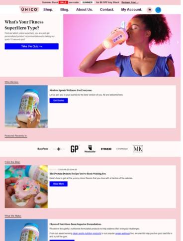 eCommerce website: Unico