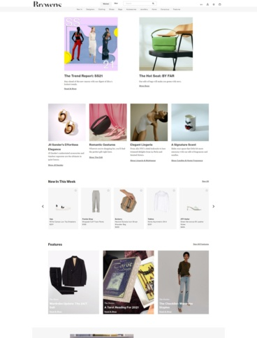 eCommerce website: Browns Fashion