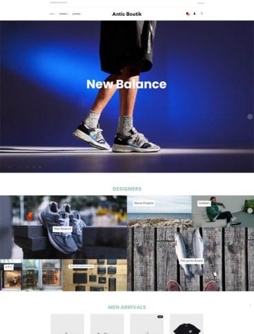eCommerce website: Antic Boutik