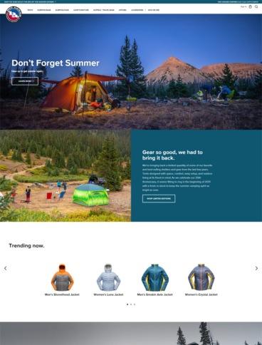 eCommerce website: Big Agnes