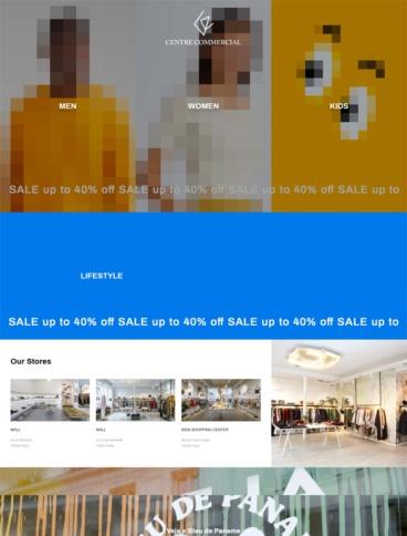 eCommerce website: Centre Commercial