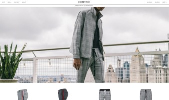 eCommerce website: Christos