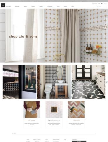 eCommerce website: Clé Tile