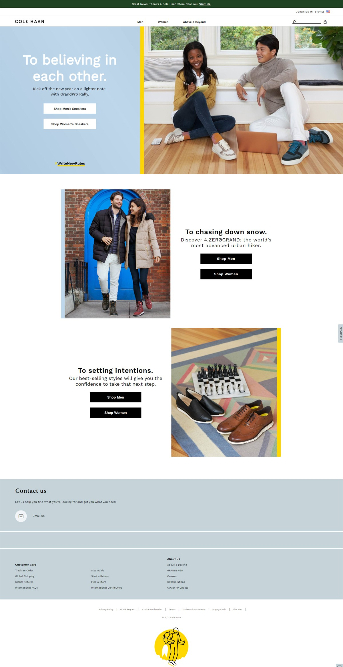 eCommerce website: Cole Haan