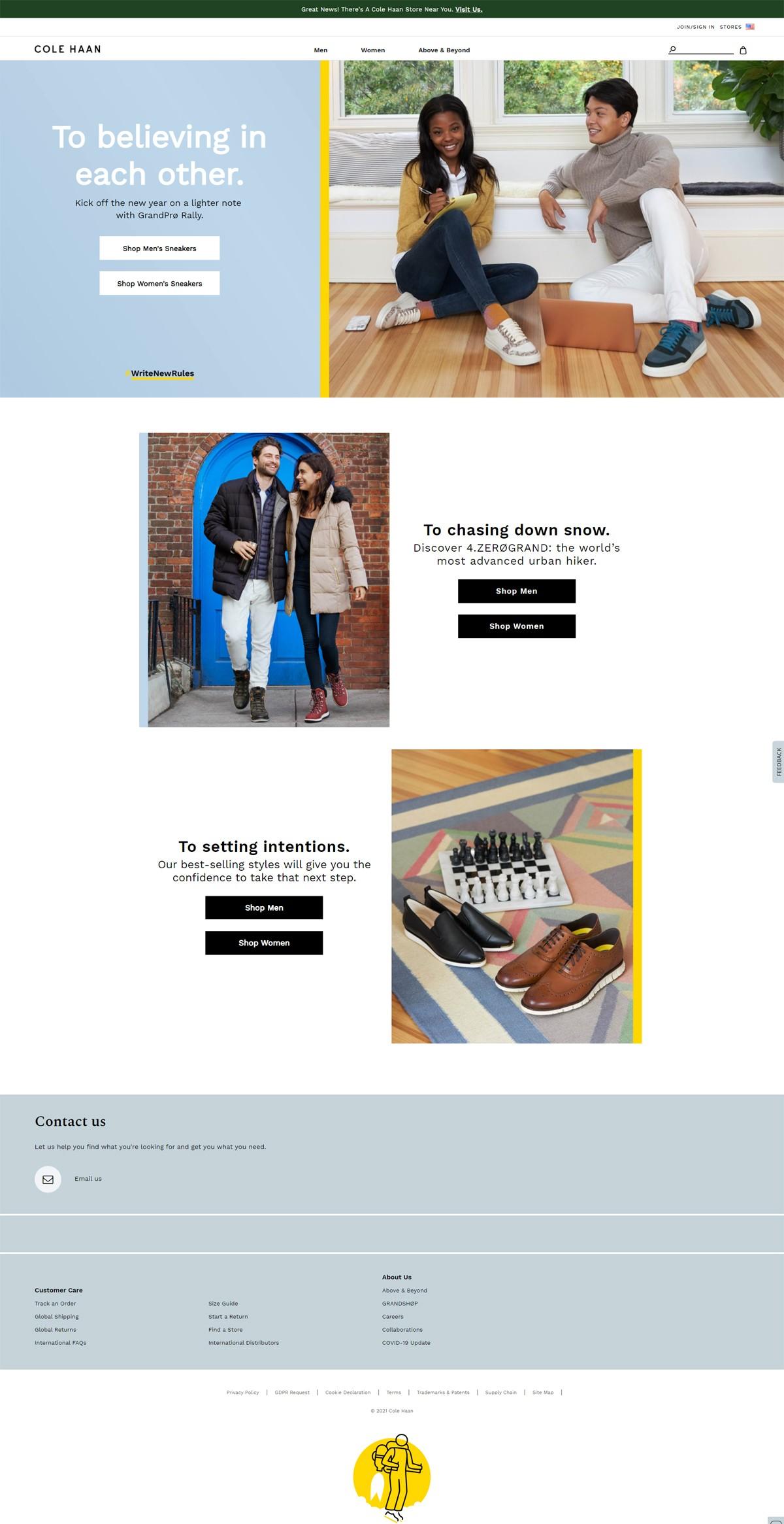 eCommerce website: Cole Haan
