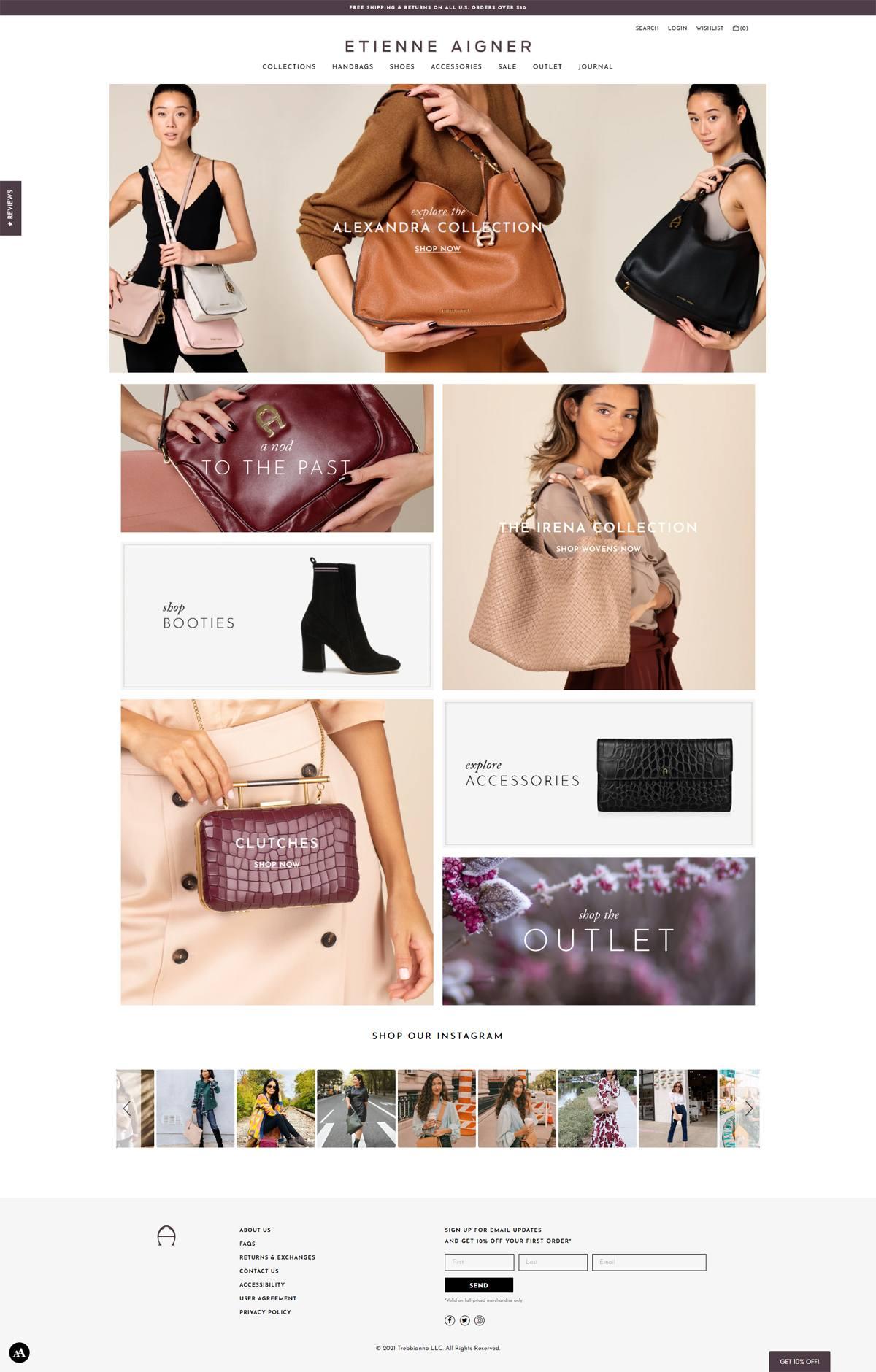 eCommerce website: Etienne Aigner