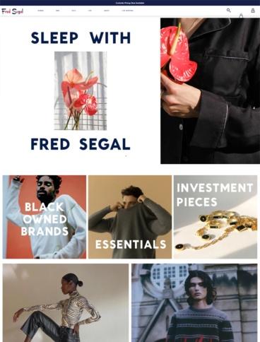 eCommerce website: Fred Segal