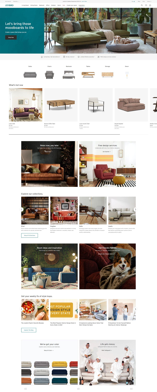 eCommerce website: Joybird