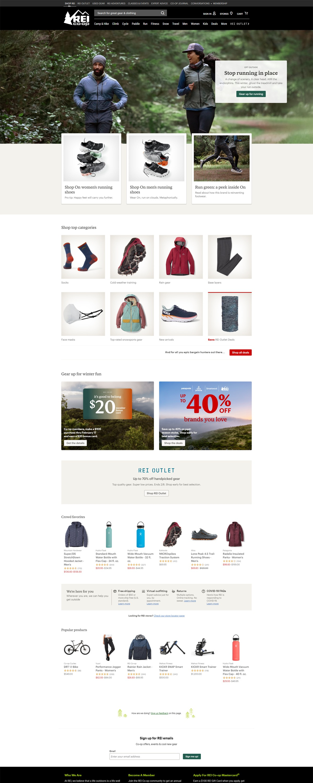 eCommerce website: REI