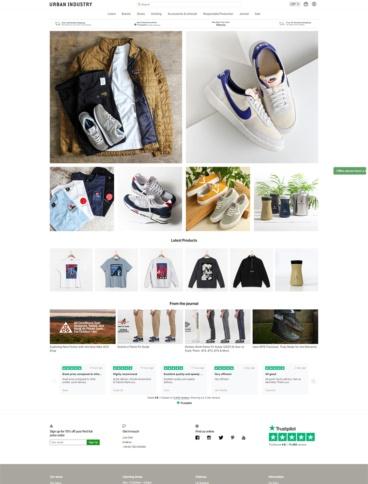 eCommerce website: Urban Industry