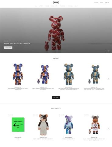 eCommerce website: Woaw Store