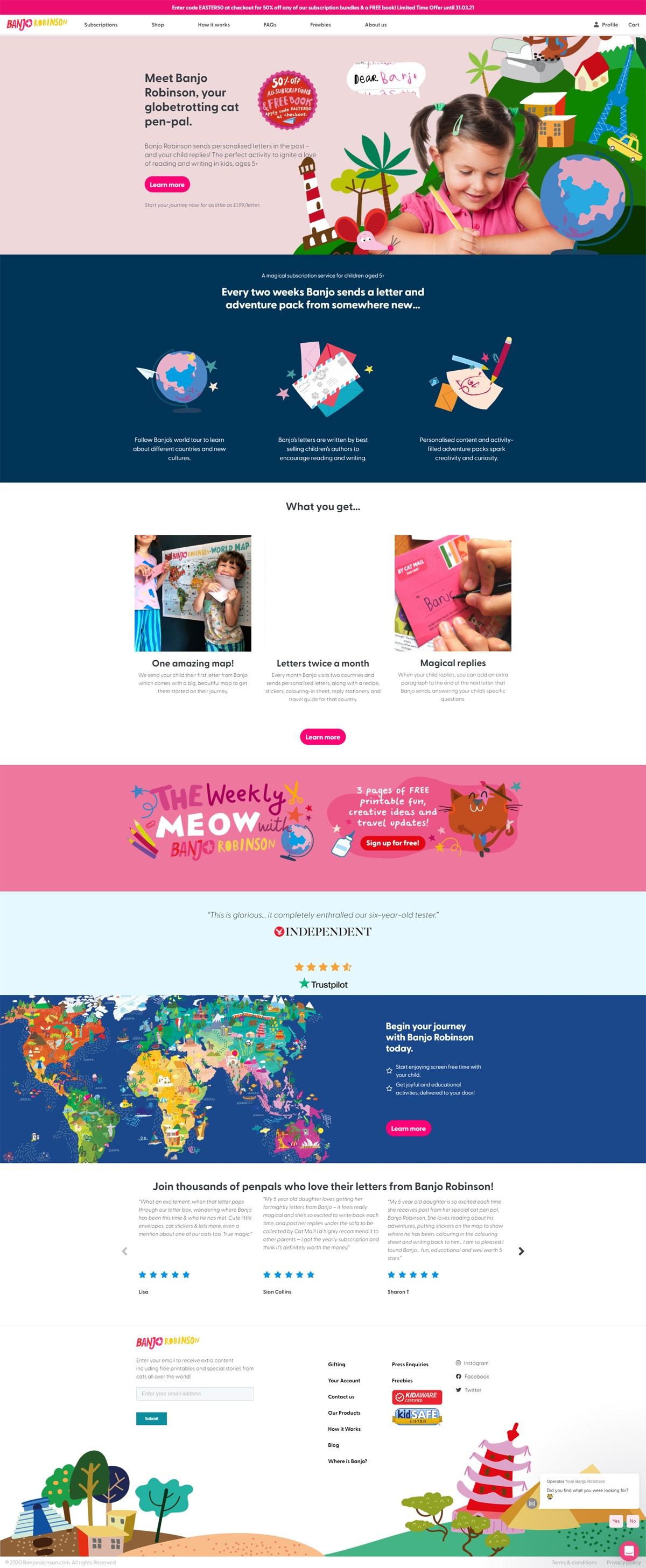 eCommerce website: Banjo Robinson