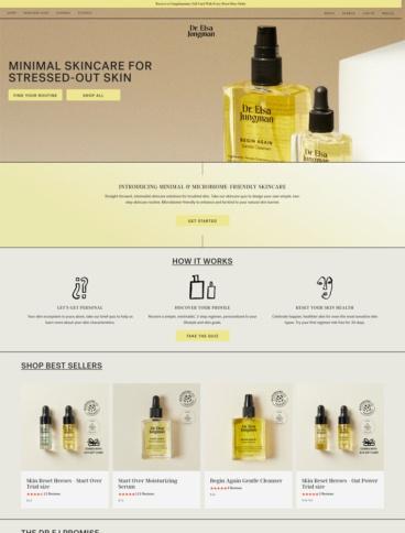 eCommerce website: Dr Elsa Jungman