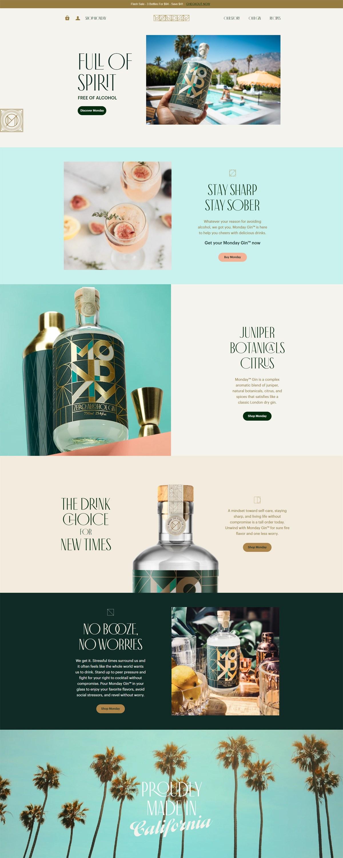 eCommerce website: Drink Monday