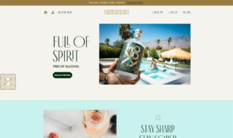 eCommerce website: Drink Monday