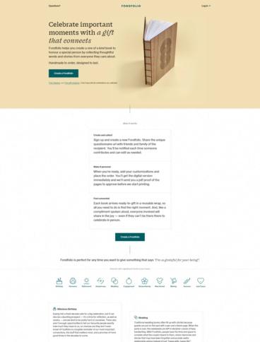 eCommerce website: Fondfolio