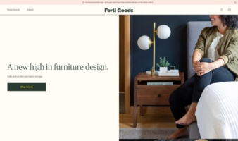 eCommerce website: Forti Goods