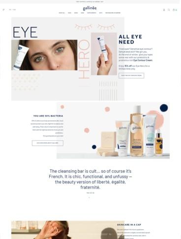 eCommerce website: Gallinée