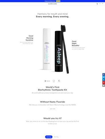 eCommerce website: Karmicare