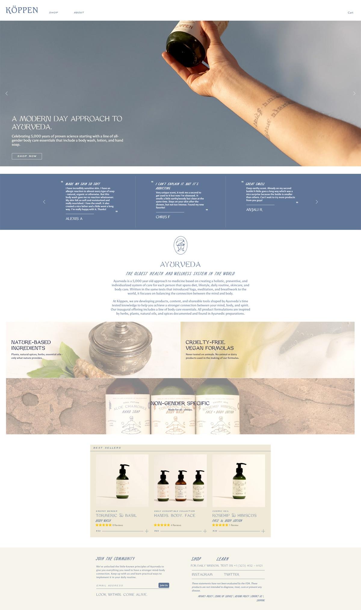 eCommerce website: Köppen