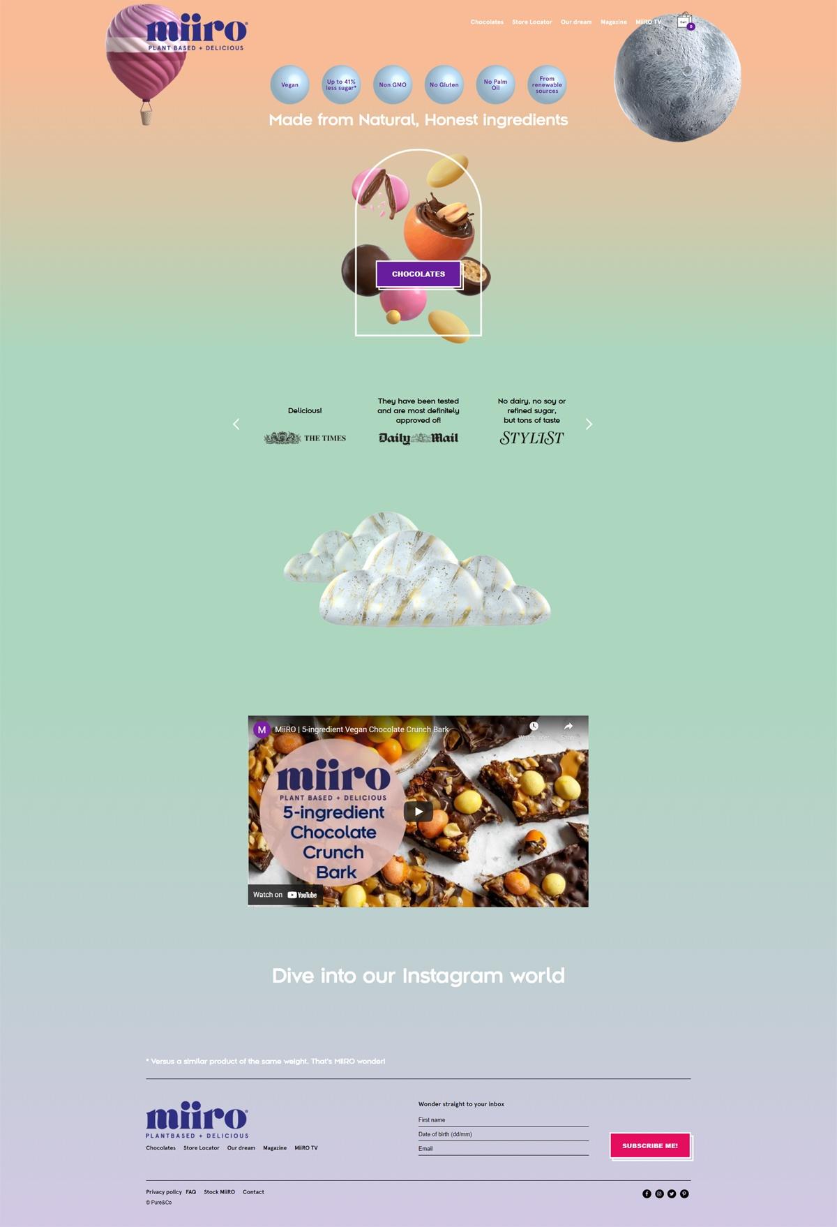 eCommerce website: MiiRo