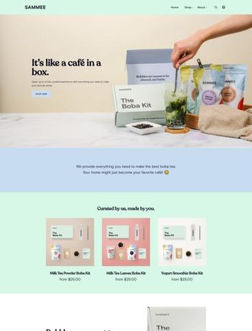 eCommerce website: SAMMEE