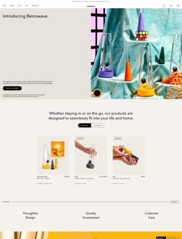eCommerce website: Session Goods
