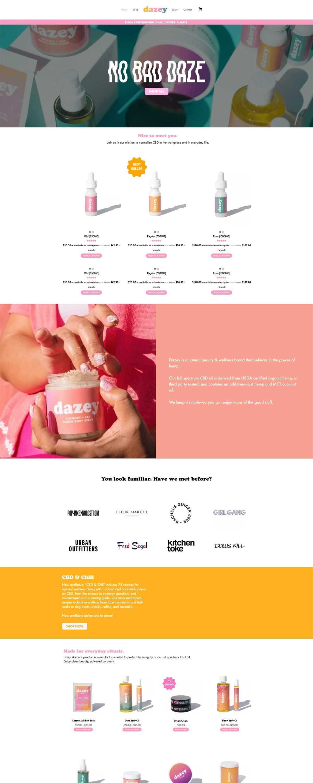 eCommerce website: Dazey