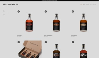 eCommerce website: 35cl Cocktail Co.