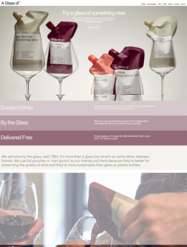 eCommerce website: A Glass of
