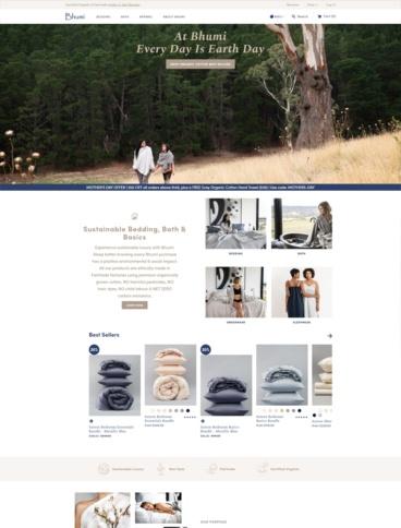 eCommerce website: Bhumi