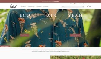eCommerce website: Bleed Clothing