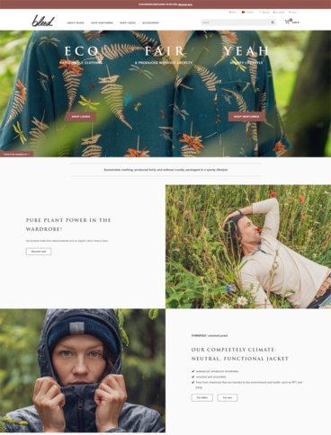 eCommerce website: Bleed Clothing