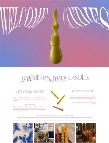 eCommerce website: Candies