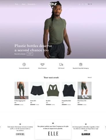 eCommerce website: Caur