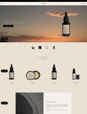 eCommerce website: Cerena