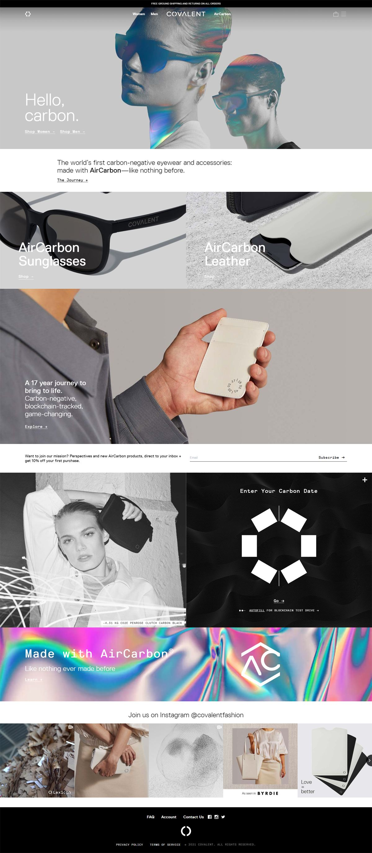 eCommerce website: Covalent