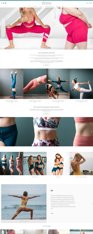 eCommerce website: Elle Evans