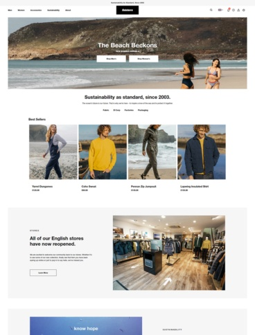 eCommerce website: Finisterre