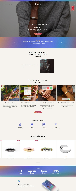 eCommerce website: Flare