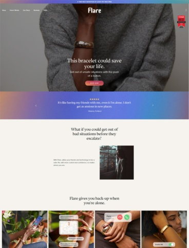 eCommerce website: Flare