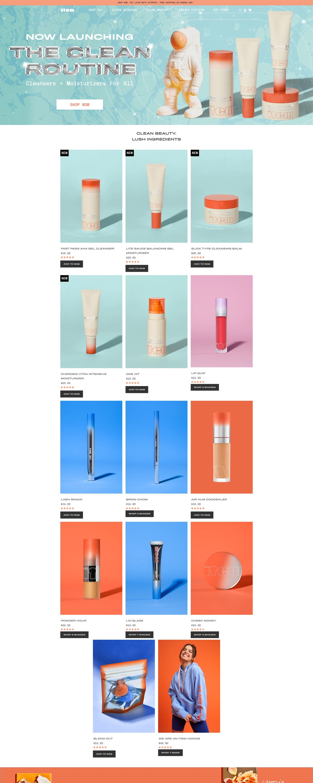 eCommerce website: ITEM Beauty