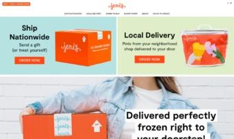 eCommerce website: Jeni's