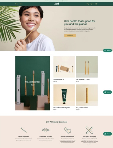 eCommerce website: Juni Essentials