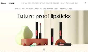 eCommerce website: Kester Black