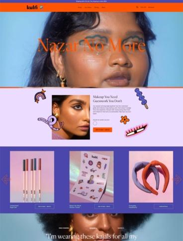 eCommerce website: Kulfi Beauty