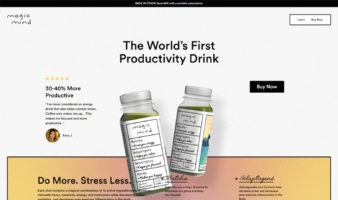 eCommerce website: Magic Mind