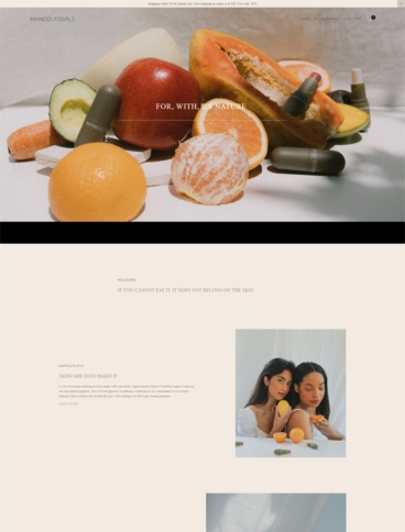eCommerce website: Mango People