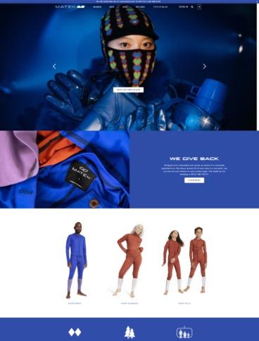 eCommerce website: Matek