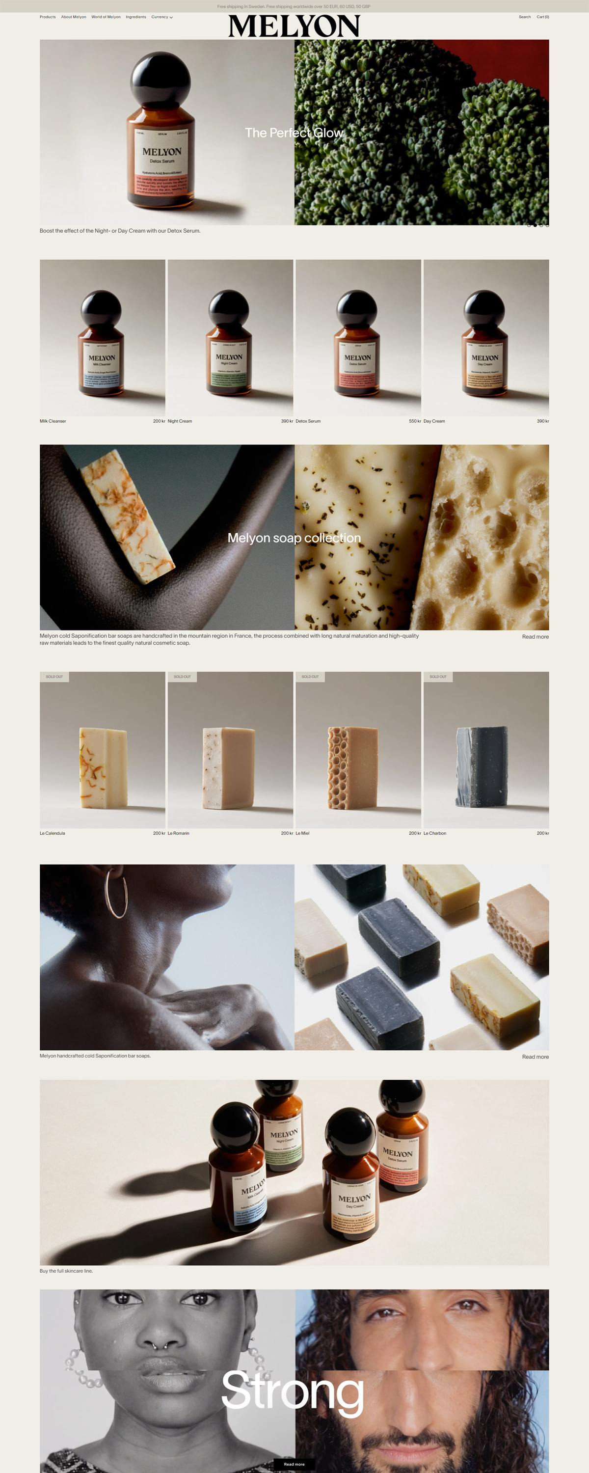 eCommerce website: Melyon